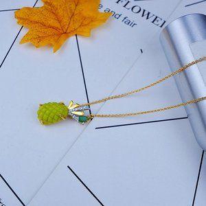 Alexis Bittar Zircon Green Pineapple Necklace